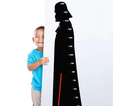 Naklejka na ścianę Miarka wzrostu Darth Vader