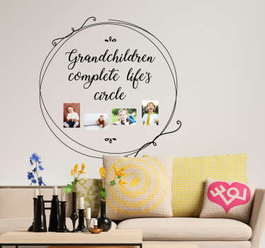 Decorate your home with this fantastic customisable wall sticker paying tribute to the wonder of grandchildren! Easy to apply.