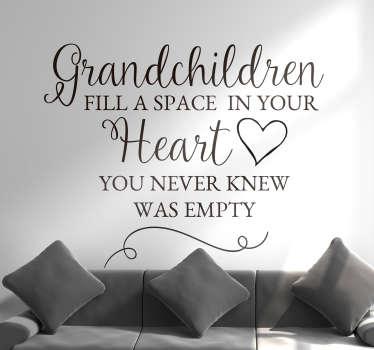 Grandchildren Heart Quote Sticker