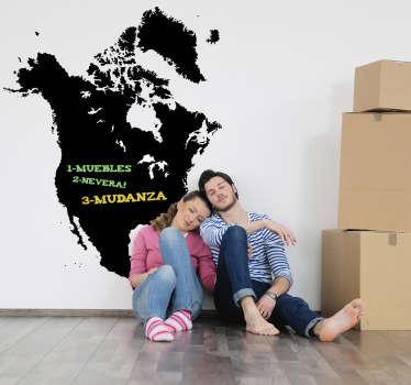 Sticker ardoise Amérique du Nord craie