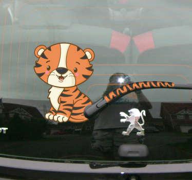 Pegatina para coche Tigre y cola