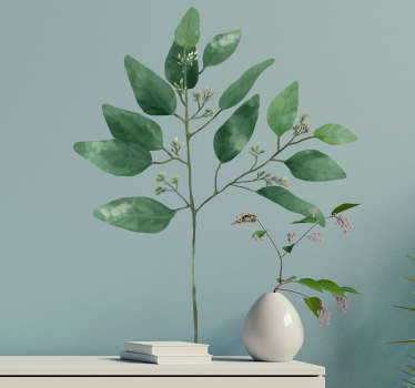 Am amazing watercolor eucalyptus plant wall sticker to decorate the home space. It comes in different size options. Easy to apply and self adhesive.