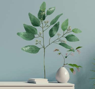 Naklejka z rysunkiem eukaliptus roślina
