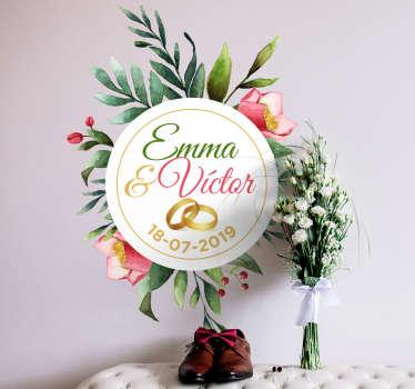 Vinilo frase boda eucalipto