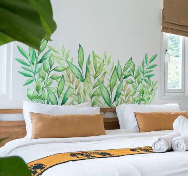 Vinilo cabecero hojas de eucalipto