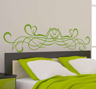 Symmetrical Swirl Headboard Sticker