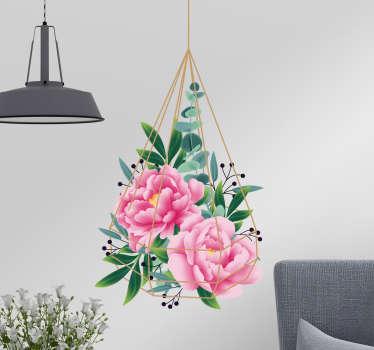 Vinilo pared Flor eucalipto
