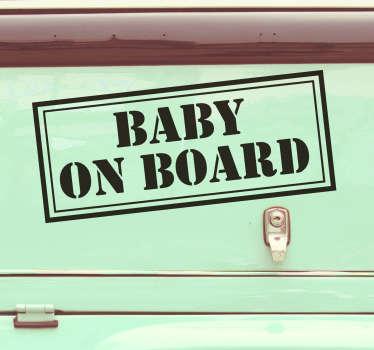 Pegatina bebé a bordo confidencial