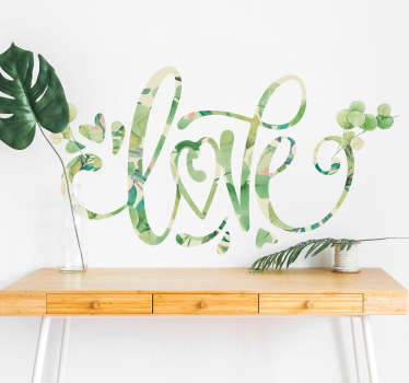 Add some romantic themed decor to your bedroom with this stunning, eucalyptus style, love wall sticker! Personalised stickers.