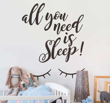 You Need Sleep Text Sticker