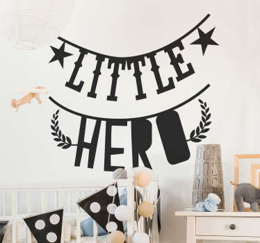Little Hero Bedroom Sticker