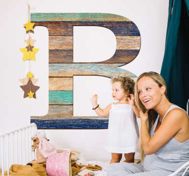 Add a customised touch to your home with this fantastic wooden style letter sticker, able to be changed into any letter of your season!