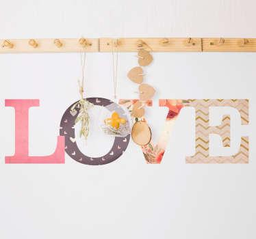 Sticker Amour Texte Lettres Love
