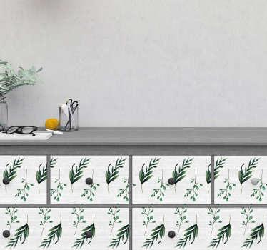 Vinilo para mueble patrones eucalipto