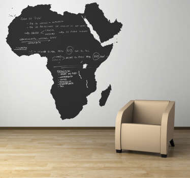 Sticker schoolbord continent Africa