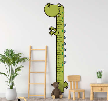 T- Rex Height Chart Wall Sticker