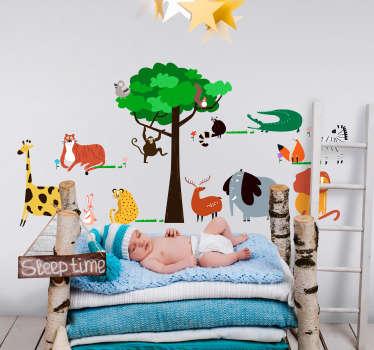 Sticker Chambre Enfant Dessin Animaux Sauvages