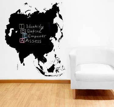 Asia Blackboard Sticker