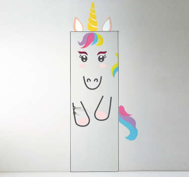 Vinilo para puerta unicornio