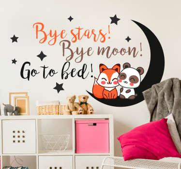 Vinilo infantil bye stars bye moon