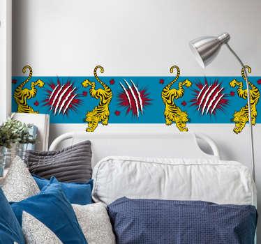 Sticker Maison Dessin Tigre