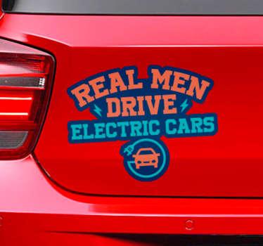 Vinilo frase conducir coche eléctrico
