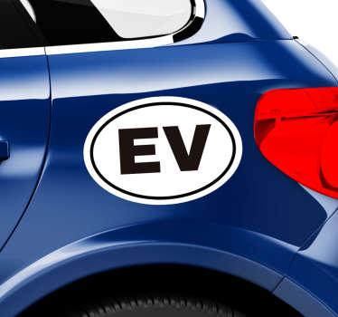 Autocollant Voiture Logo Voiture Éléctrique