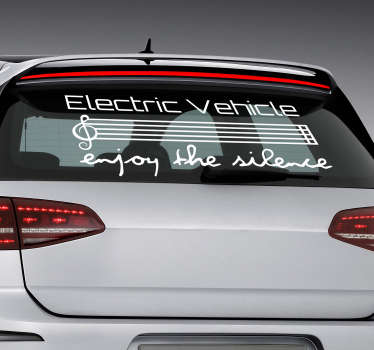 Promote the silence provided by an electric car with this fantastic - and monocolour - electric car sticker! Choose your size.
