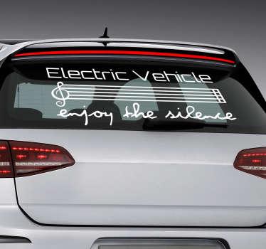 Electric Vehicle Car Sticker