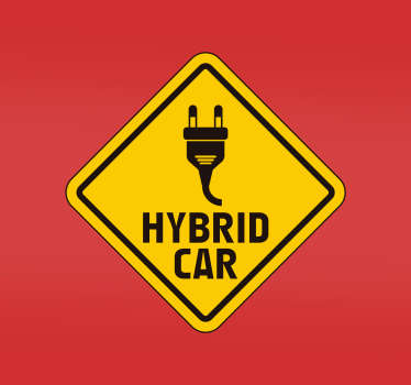 Signage plug in hybrid car sticker to decorate any vehicle. Available in any required size, easy to apply and self adhesive.