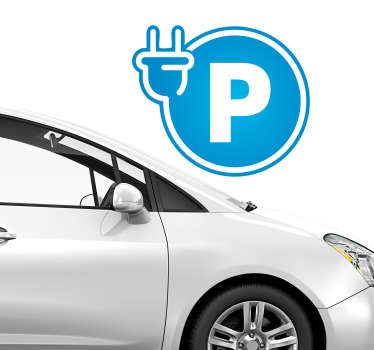 Electric Parking Business Sticker