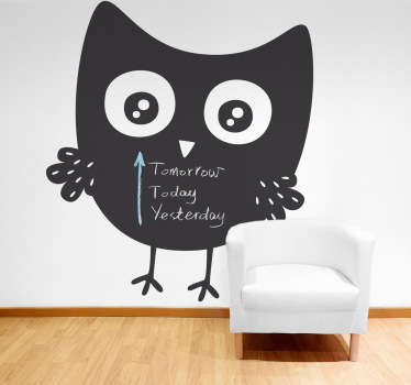 This blackboard design is part of our collection of owl wall stickers. Place it on your wall and let your children write whatever they want on it.