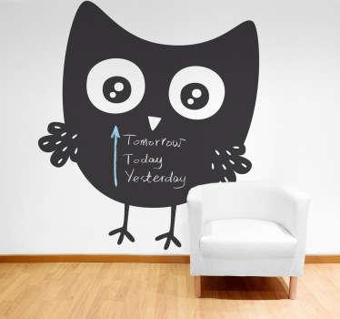 Owl tavle klistremerke
