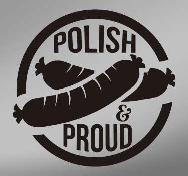 Naklejka na auto Polskie jedzenie Kiełbasa