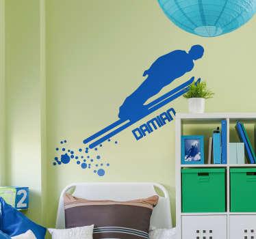 Vinilo pared Saltador de esquí personalizable