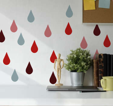 Vinilo pared gotas living coral