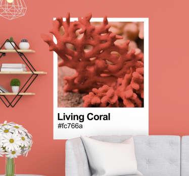Vinilo marinero Pantone Living Coral