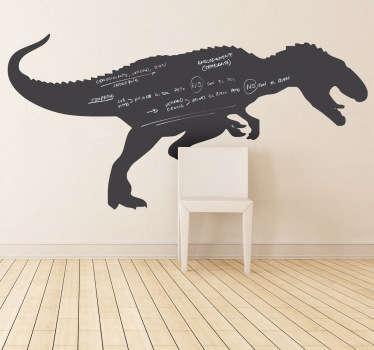 Kinderkamer krijtbord sticker dinosaurus