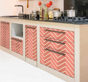 Decorative patterned furniture sticker made of a living coral texture. It is customizable in any required size to wrap cabinet, tables and wardrobes.