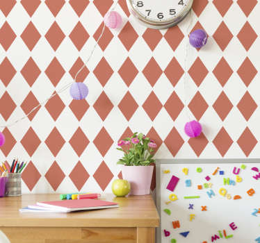 Vinilo pared set de rombos living coral