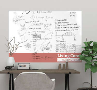 Add some living coral to your home with this fantastic whiteboard sticker, depicting the 2018 colour of the year at its best! Choose your size.