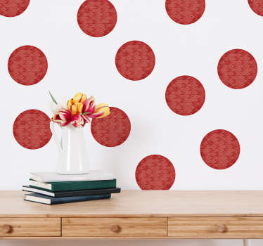 Sticker Mural Cercles Corail