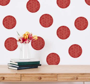 Vinilo pared topos circulares living coral