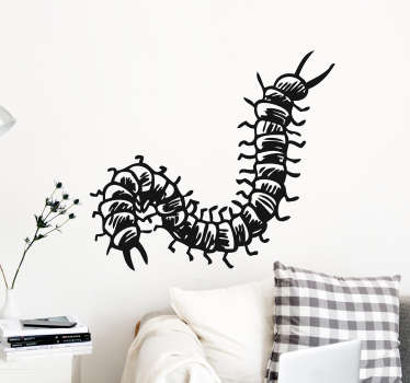 Show your support for the 100 legs of the centipede with this fantastic wall art sticker, in the style of a pencil drawing!