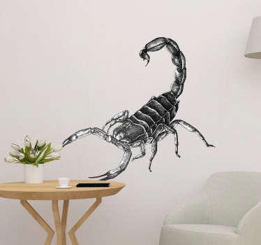 Vinilo para pared insecto escorpión