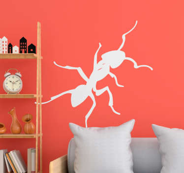 An illustrative ant insect wall sticker to decorate a home, school or business space. Available in different colours and size options.