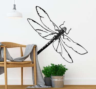Vinilo insecto Ilustración libelula