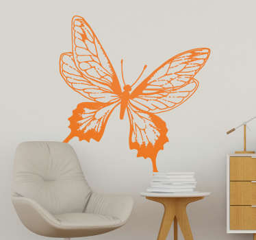 Decorative butterfly wall art sticker for home space decoration. Available in different colours and size options. Easy to apply and adhesive.