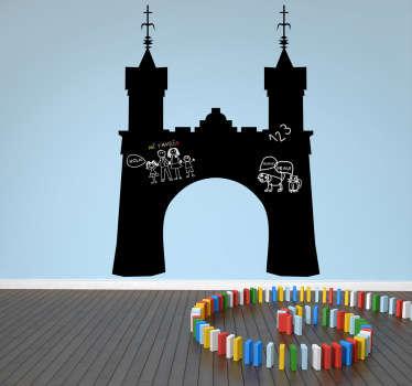 Sticker krijtbord kasteel poort