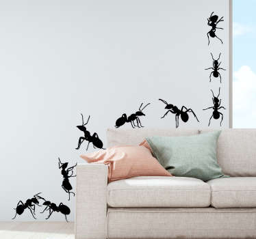 0044dfb857 Set of Ants Living Room Wall Decor
